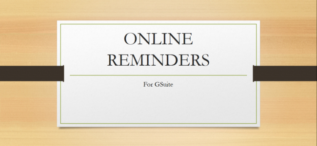 online reminder